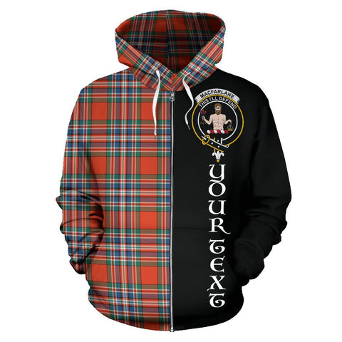 (Custom your text) MacFarlane Ancient Tartan Hoodie Half Of Me | 1sttheworld.com
