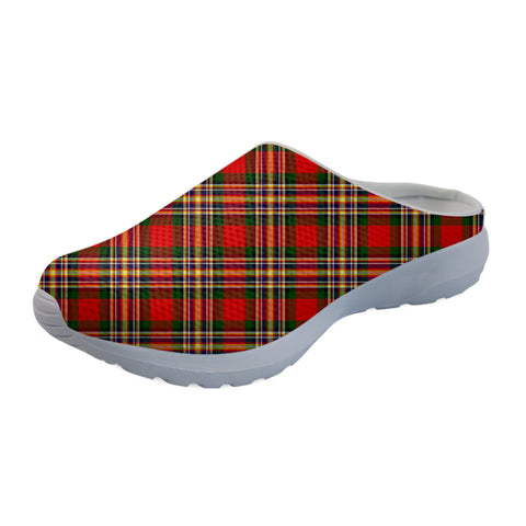 MacGill Modern Tartan Back Open Shoes TH8