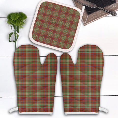 MacGillivray Hunting Ancient Clan Tartan Scotland Oven Mitt And Pot-Holder (Set Of Two)