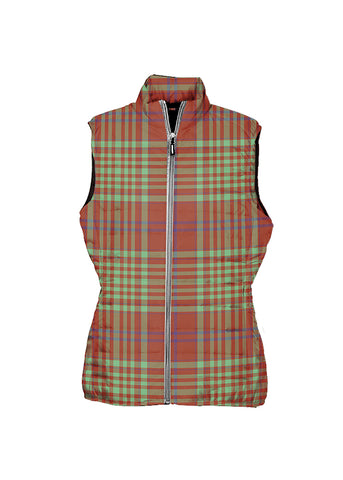 Image of MacGillivray Hunting Ancient Tartan Puffer Vest for Men and Women K4