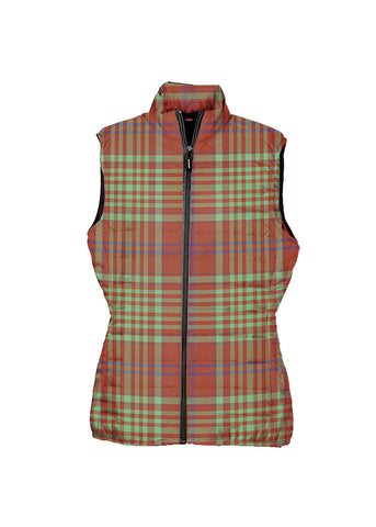 MacGillivray Hunting Ancient Tartan Puffer Vest for Men and Women K4