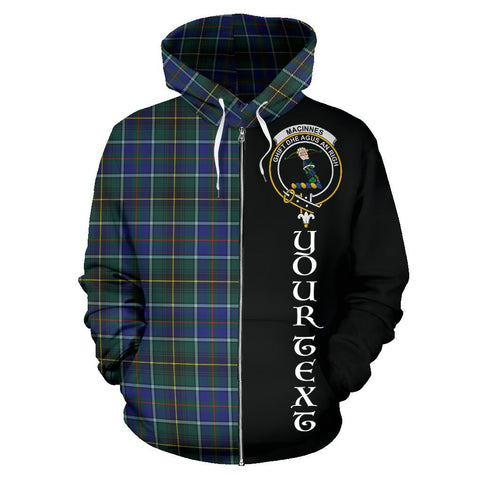 (Custom your text) MacInnes Modern Tartan Hoodie Half Of Me | 1sttheworld.com