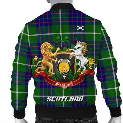 MacIntyre Hunting Modern | Tartan Bomber Jacket | Scottish Jacket | Scotland Clothing