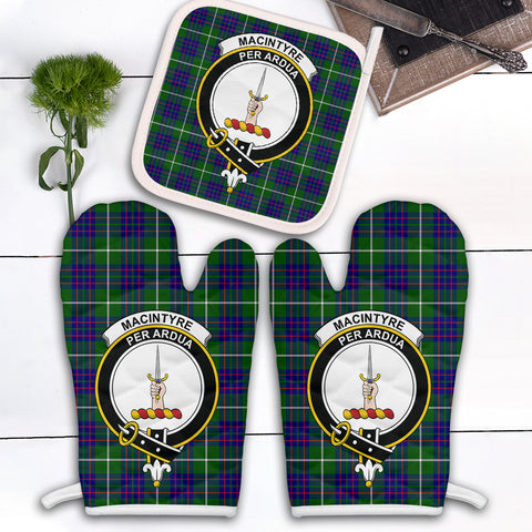 MacIntyre Hunting Modern Clan Crest Tartan Scotland Oven Mitt And Pot-Holder (Set Of Two)