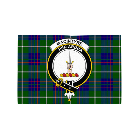 Image of MacIntyre Hunting Modern Clan Crest Tartan Motorcycle Flag