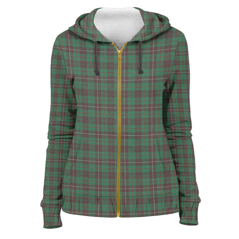 Tartan Zip Hoodie -MacKinnon Hunting Ancient | Men & Women | Clothing