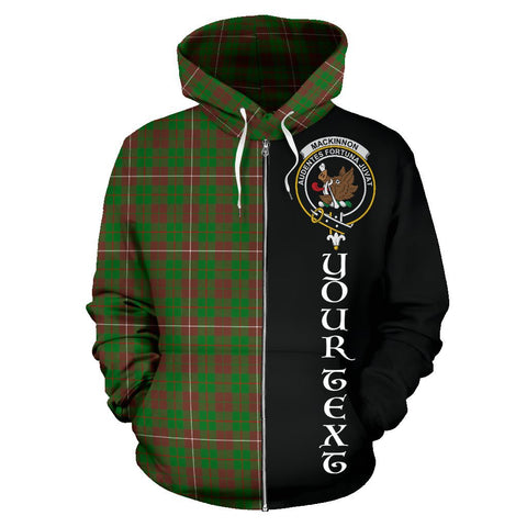 (Custom your text) MacKinnon Hunting Modern Tartan Hoodie Half Of Me | 1sttheworld.com