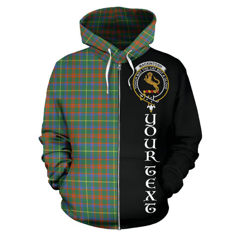 (Custom your text) MacKintosh Hunting Ancient Tartan Hoodie Half Of Me | 1sttheworld.com