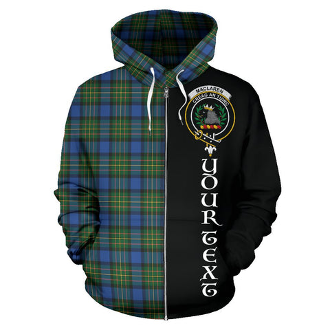(Custom your text) MacLaren Ancient Tartan Hoodie Half Of Me | 1sttheworld.com