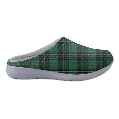 MacLean Hunting Ancient Tartan Back Open Shoes TH8
