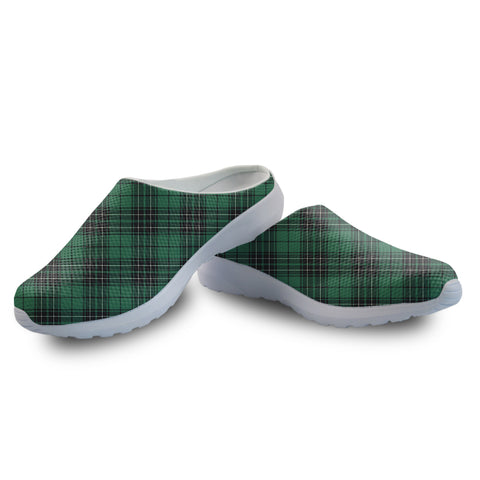 Image of MacLean Hunting Ancient Tartan Back Open Shoes | 1sttheworld.com