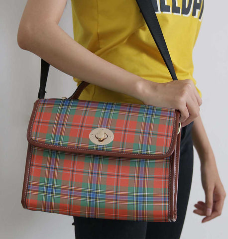 Tartan Bag - Maclean Of Duart Ancient Canvas Handbag A9
