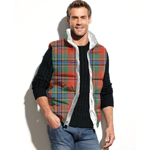 MacLean of Duart Ancient Tartan Puffer Vest for Men and Women K4