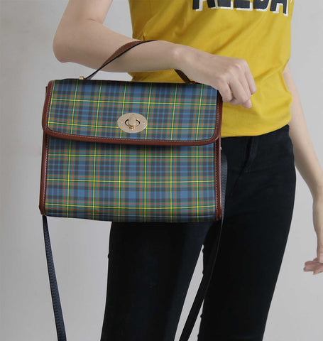 Image of Maclellan Ancient Tartan Canvas Bag | Waterproof Bag | Scottish Bag