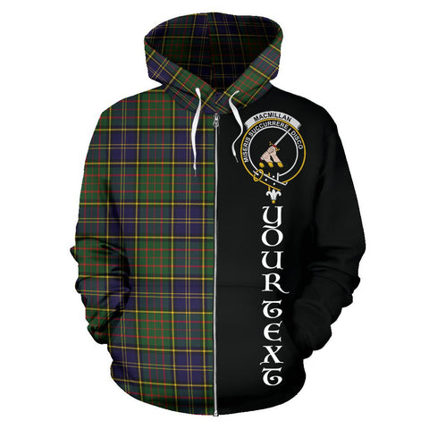 (Custom your text) MacMillan Hunting Modern Tartan Hoodie Half Of Me | 1sttheworld.com