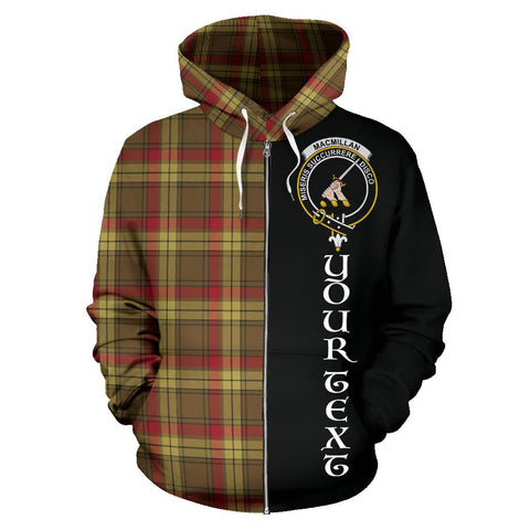 (Custom your text) MacMillan Old Weathered Tartan Hoodie Half Of Me | 1sttheworld.com