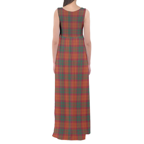 MacNab Ancient Tartan Empire Waist Maxi Dress HJ6 |Clothing| Love The World
