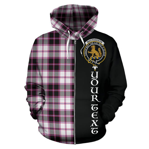 (Custom your text) MacPherson Hunting Modern Tartan Hoodie Half Of Me | 1sttheworld.com