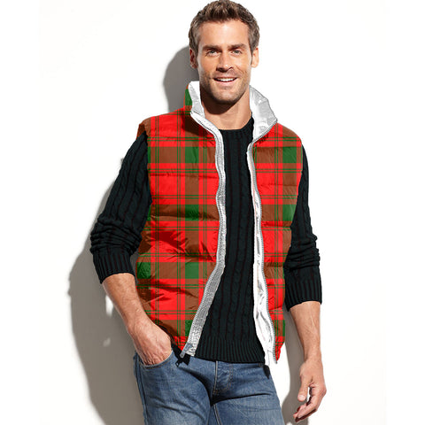 MacQuarrie Modern Tartan Puffer Vest for Men and Women K4