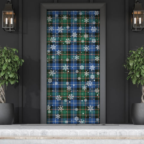MacRae Hunting Ancient Christmas Tartan Door Sock Cover