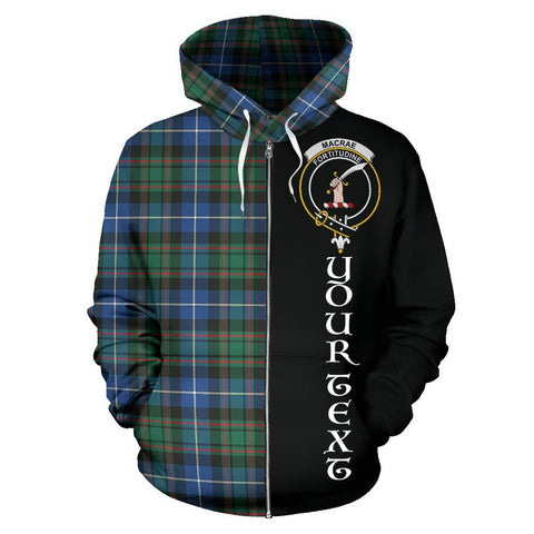 (Custom your text) MacRae Hunting Ancient Tartan Hoodie Half Of Me | 1sttheworld.com
