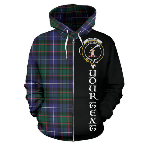 Image of (Custom your text) MacRae Hunting Modern Tartan Hoodie Half Of Me | 1sttheworld.com