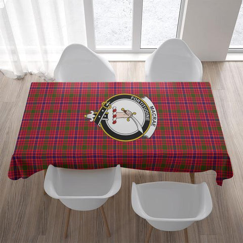 MacRae Crest Tartan Tablecloth | Home Decor
