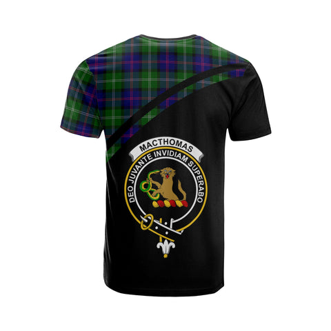 Tartan Shirt - MacThomas Clan Tartan Plaid T-Shirt Curve Version Back