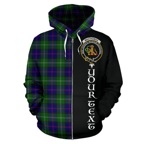 (Custom your text) MacThomas Modern Tartan Hoodie Half Of Me | 1sttheworld.com