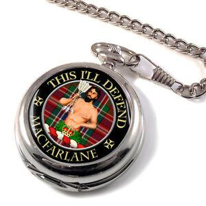 Macfarlane Modern Scottish Clan Pocket Watch