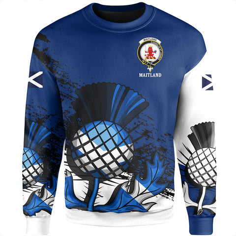 Maitland Crest Scottish Thistle Scotland Sweatshirt A7