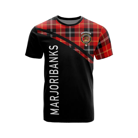 Tartan Shirt - Marjoribanks Clan Tartan Plaid T-Shirt Curve Version Front