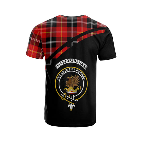Image of Tartan Shirt - Marjoribanks Clan Tartan Plaid T-Shirt Curve Version Back