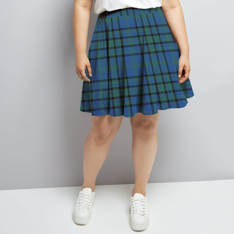Matheson Hunting Ancient Tartan High Waist Skater Skirt HJ6