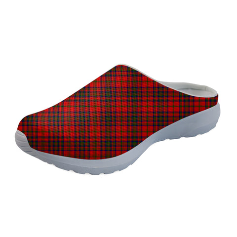 Matheson Modern Tartan Back Open Shoes TH8