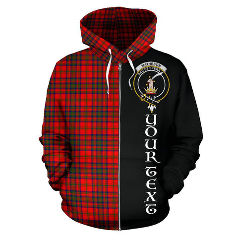 Image of (Custom your text) Matheson Modern Tartan Hoodie Half Of Me | 1sttheworld.com
