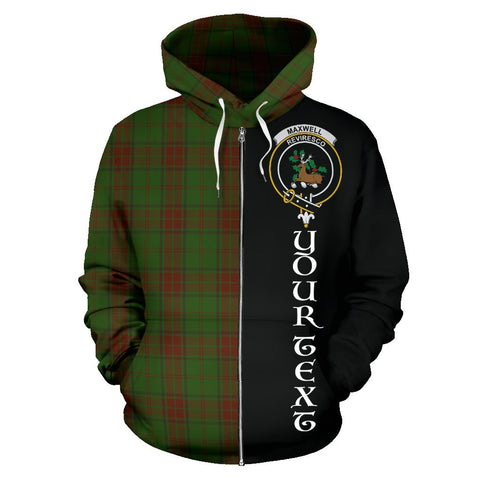 (Custom your text) Maxwell Hunting Tartan Hoodie Half Of Me | 1sttheworld.com