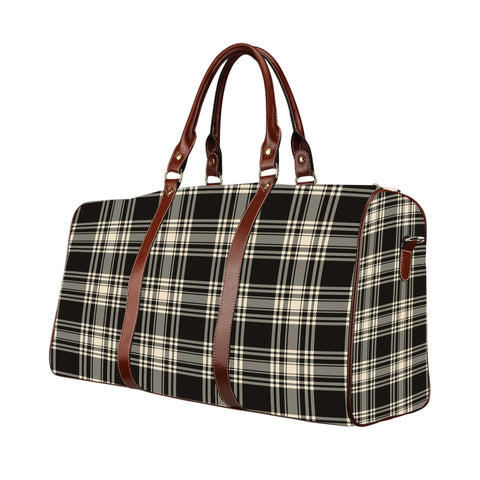 Tartan Travel Bag - Menzies Black _ White Ancient | Scottish Travel bag | 1sttheworld