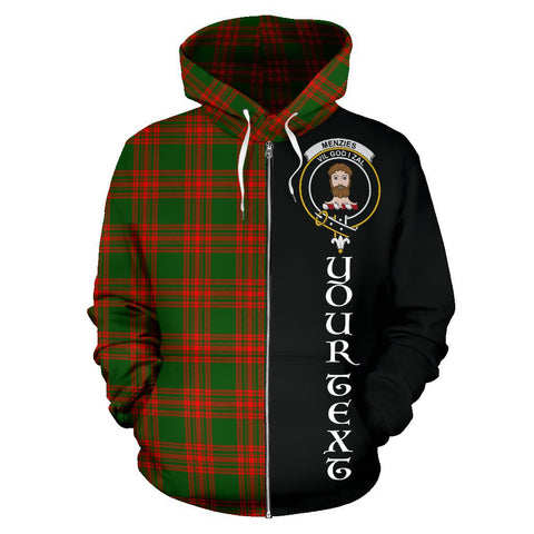 (Custom your text) Menzies Green Modern Tartan Hoodie Half Of Me | 1sttheworld.com