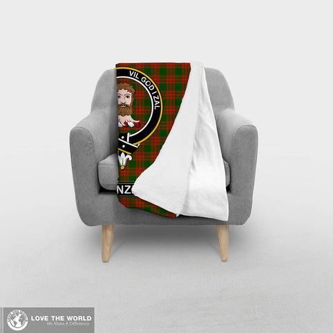 Image of Menzies Tartan Blanket | Clan Crest | Shop Home Decor