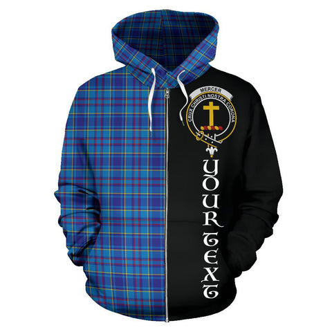 (Custom your text) Mercer Modern Tartan Hoodie Half Of Me | 1sttheworld.com