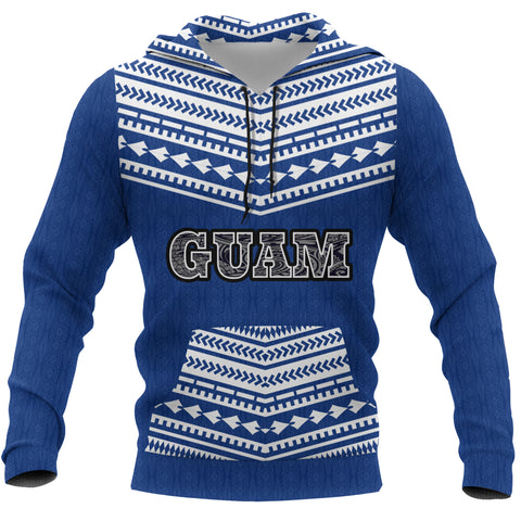 Guam Polynesian Pattern Front Pocket Hoodie - Coat Of Arms