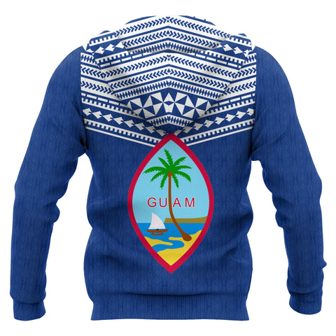 Guam Polynesian Custom Personalised Pattern Front Pocket Hoodie - Coat Of Arms - BN12