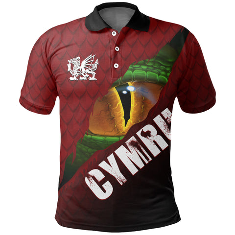 Image of Welsh Polo Shirt - Dragon Eyes | Clothing | Love The World