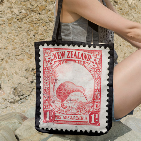 New zealand stamp tote bag 6 - new zealand stamp, tote bag, totes, bag, handbags, accessories, online shopping, kiwi bird