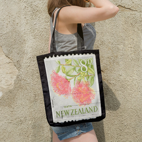 New zealand stamp tote bag 5 - new zealand stamp, tote bag, totes, bag, handbags, accessories, online shopping, pohutukawa