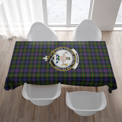 Murray (of Atholl) Crest Tartan Tablecloth | Home Decor