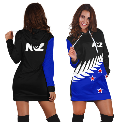 Image of New Zealand Hoodie Dress Flag Color J7