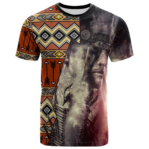 Image of Native American T-Shirt - Warrior Arrow Pattern