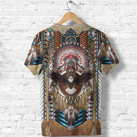 Native American T-Shirt - Mandala 2nd - Black - Back - For Men and Women